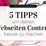 5 Tipps, um deinen Webseiten-Content besser zu machen