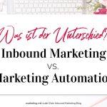Inbound Marketing vs. Marketing Automation: Was ist der Unterschied?