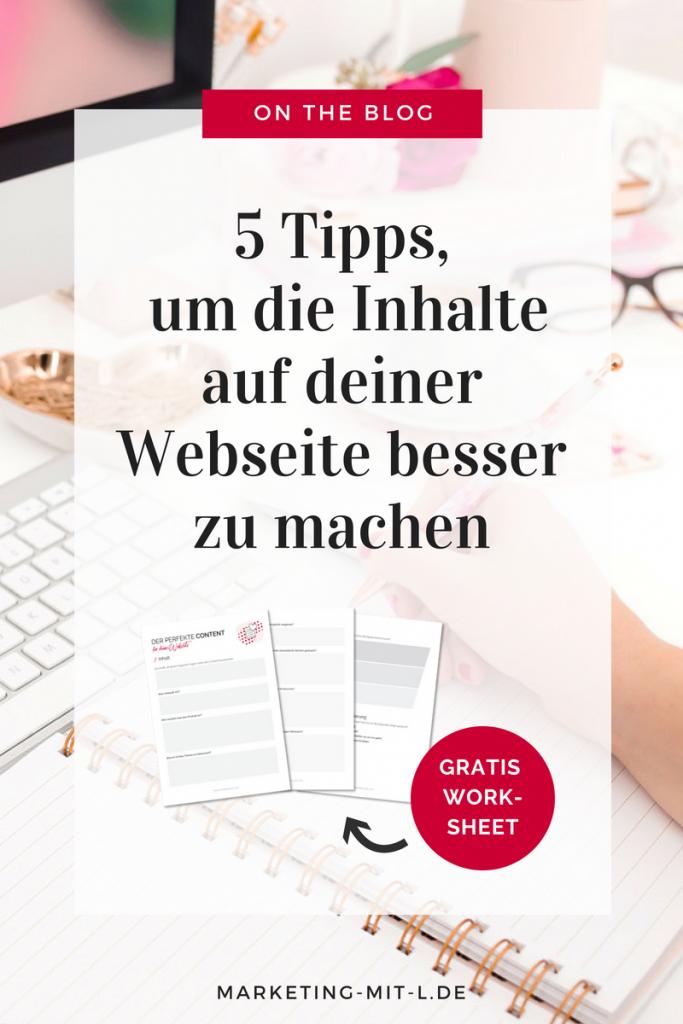 5 Tipps für besseren Webseitencontent