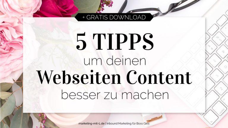 Webseiten-Content-optimieren