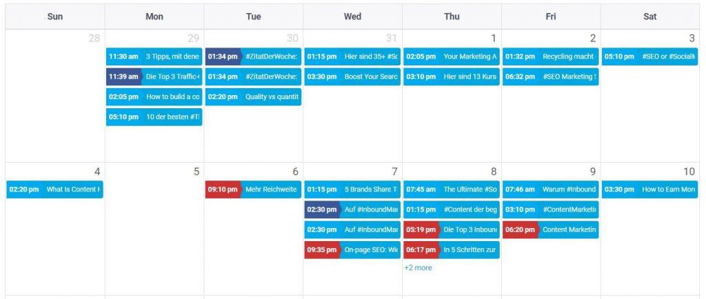 SocialPilot Kalender