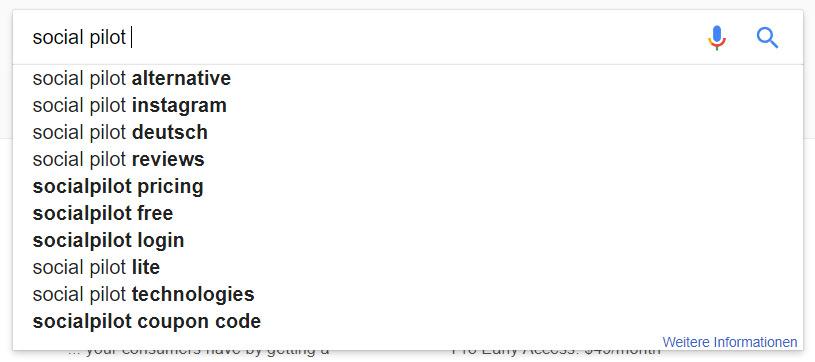 Google Suggest - Keywords finden