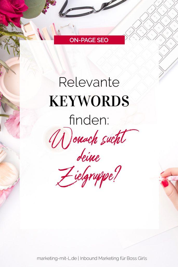 Die richtigen Keywords finden und nutzen