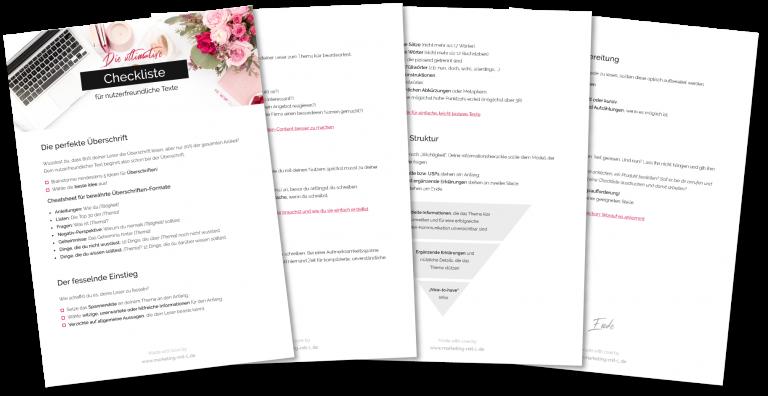 Die ultimative Checkliste für nutzerfreundliche Texte