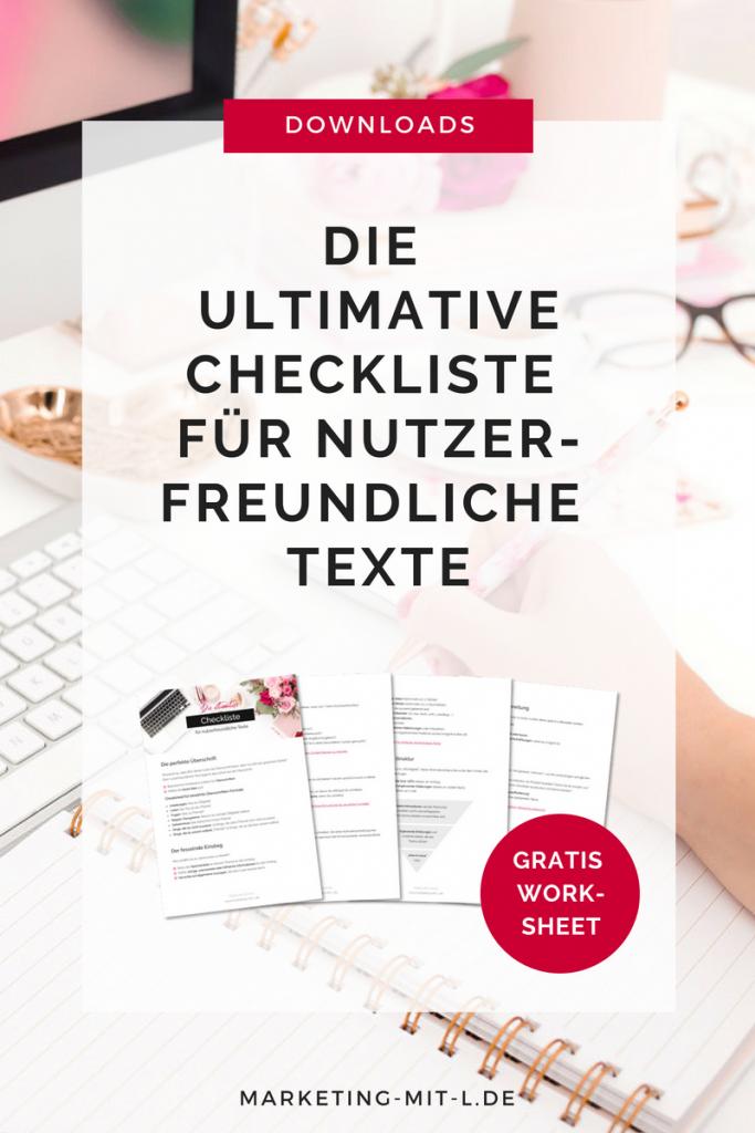 Checkliste für nutzerfreundliche Texte