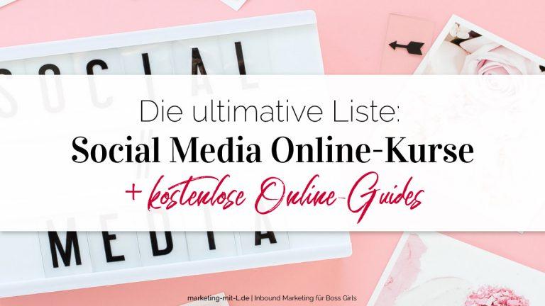 Social Media Online Kurse Titelbild