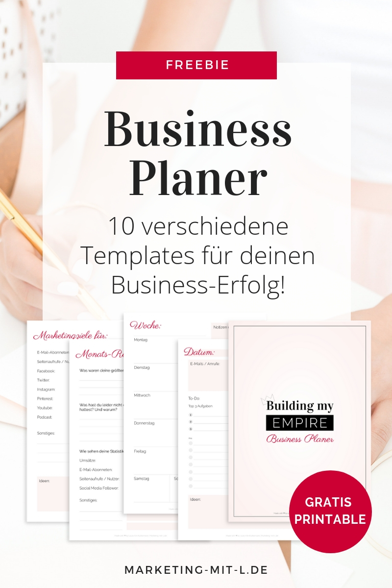 Business Planer Printable PDF Download kostenlos